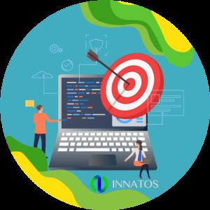 Innatos - ¿Qué es el Software Empresarial? - computadora con un target adentro de el