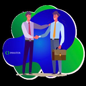 Innatos - What is Internal Communication?- men shacking their hands