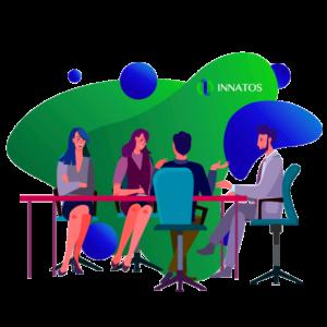 Innatos - consejos para mejorar comunicaciones internas - sala de juntas con personas