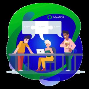 Innatos - ¿Por qué ocupas la Plataforma de Comunicaciones Internas? -personas conversando