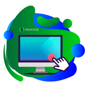 Innatos - Optimize your Business process with ERP software - a computer with a small white hand