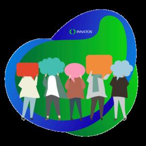 Innatos - ¿Cómo crear Comunicaciones Internas con su Equipo? - personas con preguntas