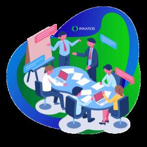 Innatos - ¿Cómo crear Comunicaciones Internas con su Equipo? - sala de juntas con personas