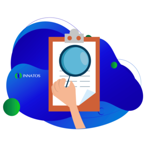 Innatos - keys internal communication - note pad with a blue background