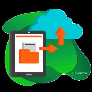 Innatos - ¿Cuánto cuesta el desarrollo de software personalizado? - tableta de datos con una nube encima