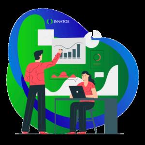 Innatos - ¿Cómo crear Comunicaciones Internas con su Equipo? - personas profesionales con graficas
