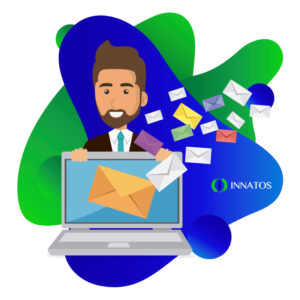 Innatos - Tips to improve Internal Communications - person smiling with an email