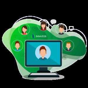 Innatos - claves de comunicación interna - computadora con personas al rededor