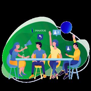 Innatos - personas en una mesa opinando