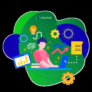 Innatos - Software CRM para Empresas Manufactureras - mujer trabajando en un escritorio