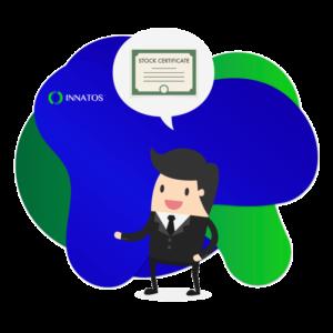 Innatos - Software CRM para Empresas Manufactureras - persona con un certificado