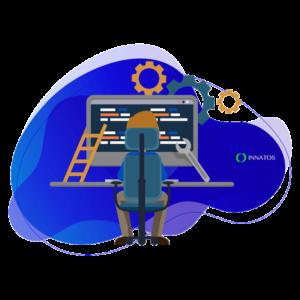 Innatos - men working in his computer