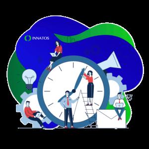 Innatos - Software CRM para Empresas Manufactureras - personas usando el tiempo