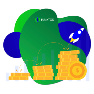 Innatos - CRM software for manufacturing - money with a rocket