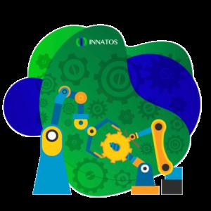 Innatos - Software CRM para Empresas Manufactureras - maquinaria industrial animada