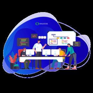 Innatos - ¿Vale la pena el desarrollo de software ERP personalizado? - personas trabajando en equipo