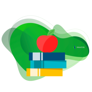 Innatos - Examples of ERP customization - apple with books on it
