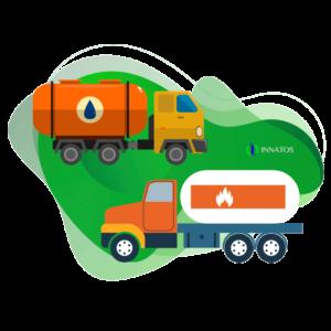 Innatos - Ejemplos de Personalización ERP en Diferentes Industrias - camiones de petroleo y gas