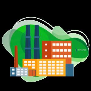 Innatos - Ejemplos de Personalización ERP en Diferentes Industrias - empresa manufacturera animada