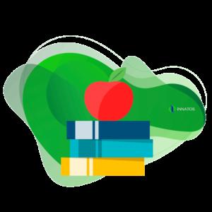 Innatos - libros animados y manzana roja animada