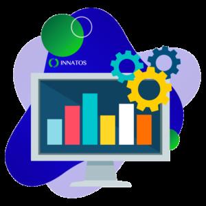 Innatos - desarrollo software - computadora con informacion de graficas