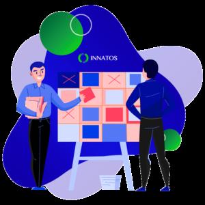 Innatos - desarrollo software - personas brillantes realizando cálculos juntos