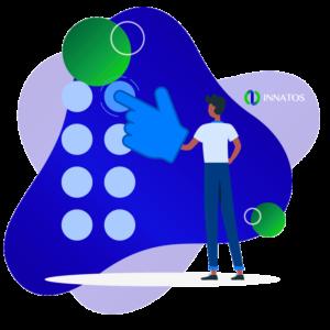 Innatos - prsonas con botones con una flecha arriba
