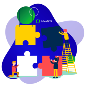 Innatos - How does software development help my business model?- professional people explaining to another people
