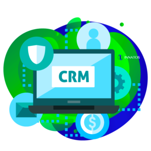 Innatos - Reasons why you should create a Custom CRM System - computer with data
