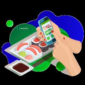 Innatos - ¿Cuanto cuesta un menú digital para restaurantes en México? - persona seleccionando comida de su aplicación movil