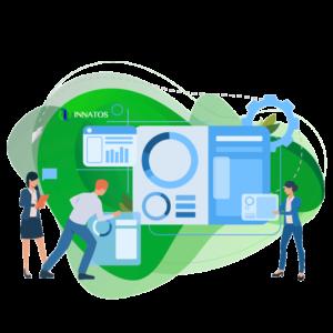 Innatos - principales ventajas del software de ERP personalizado - perosna trabajando