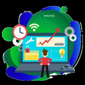 Innatos - Integración de Software ERP - computadora con informacion importante de software