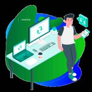 Innatos - ¿Cuáles son los Principales beneficios del Software en la Nube? - perosna profesional trabajando