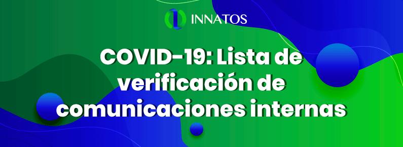 Innatos - COVID-19: Lista de verificación de comunicaciones internas - titulo