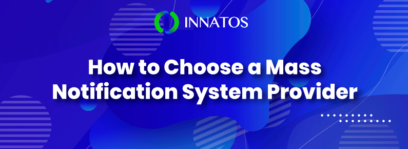 Innatos - How to Choose a Mass Notification System Provider - title